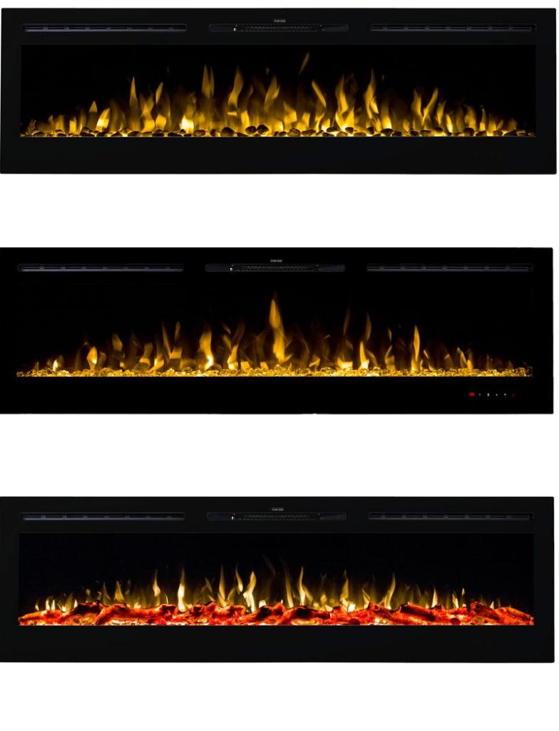 Kominek ścienny Majestic płomień